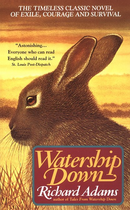 an analysis of the main characters in richard adams watership down 10 novels featuring humanlike animals richard adams watership down is the tale of a band of rabbits who flee their troubled home in search of.